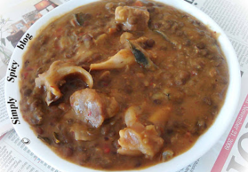 Masoor Mutton + Roti + Kachumber